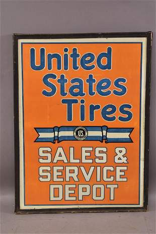 United States Tires Sales & Service Depot Sign