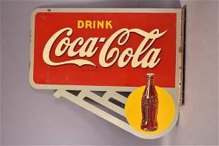 Drink Coca-Cola w/ Bottle Metal Sign (TAC)