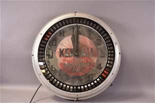 Kendall Motor Oil Neon Spinner Clock
