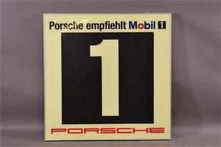 Mobil 1 Porsche Lighted Sign