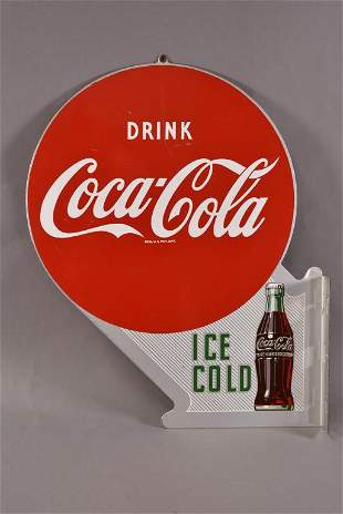 Drink Coca-Cola w/ Bottle Metal Sign