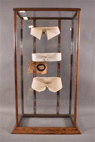Clothing Store Collars Oak Display Case
