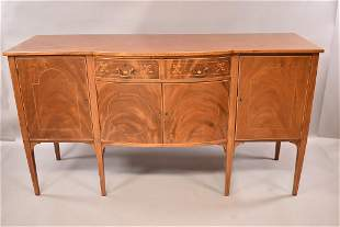 19TH CENTURY INLAID MAHOGANY BUFFET
