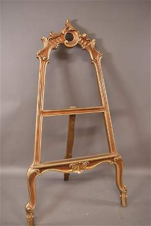 CONTEMPORARY GOLD PAINTED EASEL