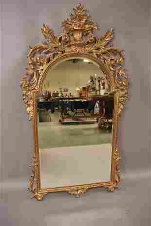 CONTEMPORARY GOLD GILT FRENCH STYLE WALL MIRROR