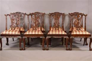 SET OF 8 CONTEMPORARY MAITLAND SMITH DINING CHAIRS