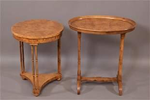 2 BAKER SIDE TABLES