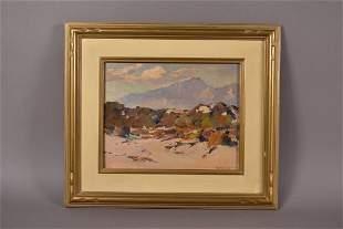 CALIFORNIA DESERT LANDSCAPE SIGNED M. GILBERT