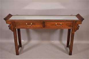 CHINESE MIRRORED TOP ALTAR TABLE