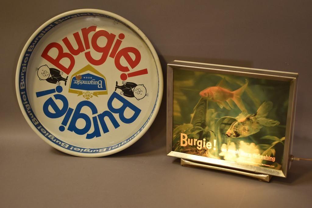 2 BURGERMEISTER BEER ADVERTISING PIECES
