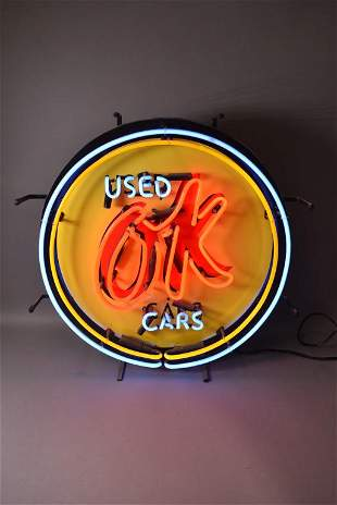 GM LICENSED OK USED CARS NEON SIGN