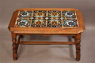 SPANISH STYLE 8 TILE TOP TABLE
