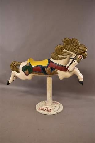 CAST METAL CAROUSEL HORSE