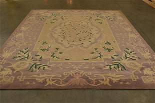 """APPROX 11' 7"""" x 8' 10' CHINESE SCULPTURED WOOL RUG"""