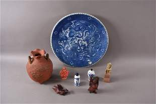 LOT OF CHINESE TABLE ITEMS