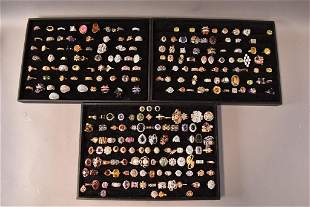 LARGE LOT OF COSTUME JEWELRY RINGS