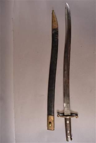SPANISH MODEL 1881 MACHETE OR YATAGAN SHORT SWORD
