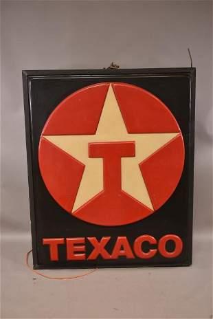LARGE TEXACO DOUBLE SIDED PLASTIC SIGN