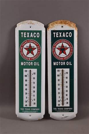 2 REPRODUCTION TEXACO THERMOMETERS