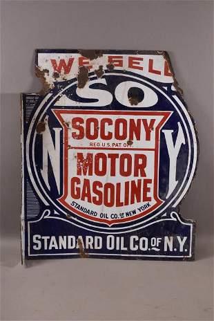 SOCONY MOTOR GASOLINE DSP FLANGE SIGN