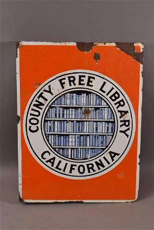 COUNTY FREE LIBRARY CALIFORNIA DSP FLANGE SIGN