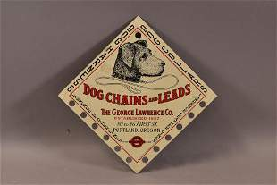 GEORGE LAWRENCE DOG CHAINS & LEADS SIGN