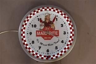MAID RITE NEON CLOCK