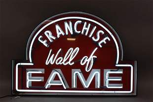 FRANCHISE WALL OF FAME NEON SIGN