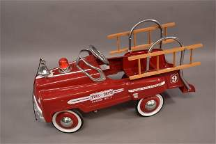 CONTEMPORARY HOOK & LADDER PEDAL CAR
