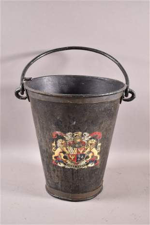 FRENCH METAL FIRE BUCKET