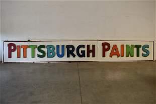 PITTSBURGH PAINTS 2 PIECE PORCELAIN SIGN