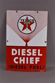 1963 TEXACO DIESEL CHIEF PUMP PLATE