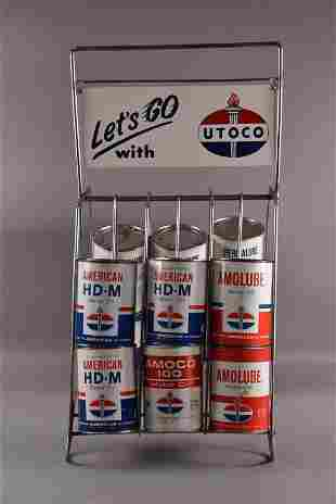 UTOCO OIL RACK WITH CANS