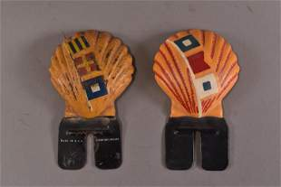 2 SHELL INTERNATIONAL LICENSE PLATE TOPPERS