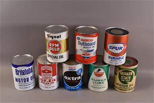 EIGHT 1 QUART PAPER OIL CANS