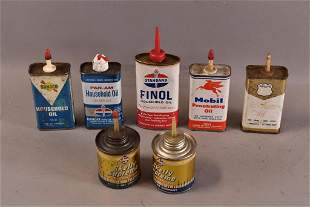 7 HOUSEHOLD OIL CANS (HANDY OILERS)