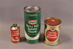 3 TEXACO CANS