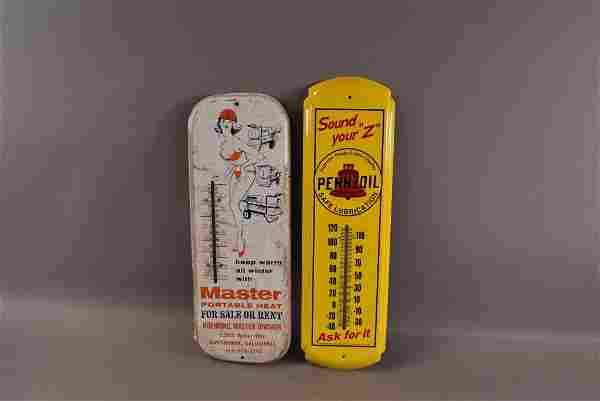 2 TIN THERMOMETERS