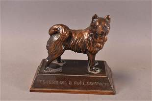 HUSKY WESTERN OIL & FUEL CO. PAPERWEIGHT.