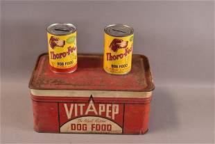 3 DOG FOOD TINS