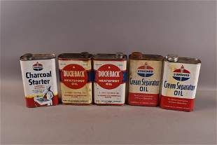 FIVE 1 QUART CANS