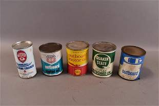 5 OUTBOARD SMALL MOTOR OIL CANS