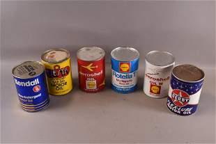 SIX 1 QUART OIL PAPER CANS