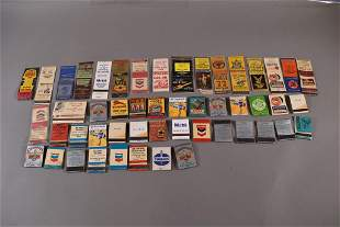 COLLECTION OF VINTAGE GAS & OIL MATCHBOOKS
