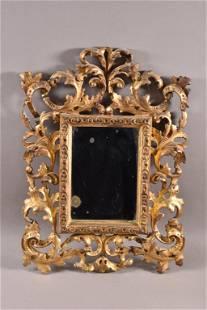 19TH CENTURY ITALIAN GOLD GILT FRAMED MIRROR