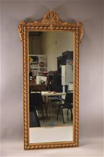 1930'S CARVED WOOD & GESSO WALL MIRROR