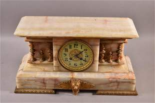 1900'S FRENCH ONYX MANTLE CLOCK