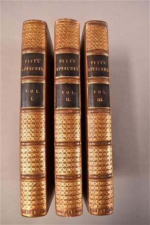 THE SPEECHES OF WILLIAM PITT 3 VOLUME BOOK SET