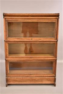 1900'S 3 STACK AM. OAK MACEY LAWYER'S BOOKCASE