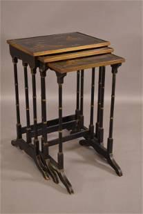 1920'S SET OF ASIAN DESIGN NESTING TABLES